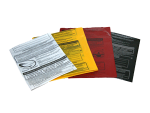 Пакеты полиэтиленовые для сбора медицинских отходов класса: «А» белый, «Б» желтый, «В» красный (СанПиН 2.1.7.2790-10)